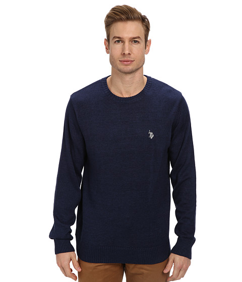 U.S. POLO ASSN. - Solid Crew Neck Sweater (Deep Ocean) Men's Sweater