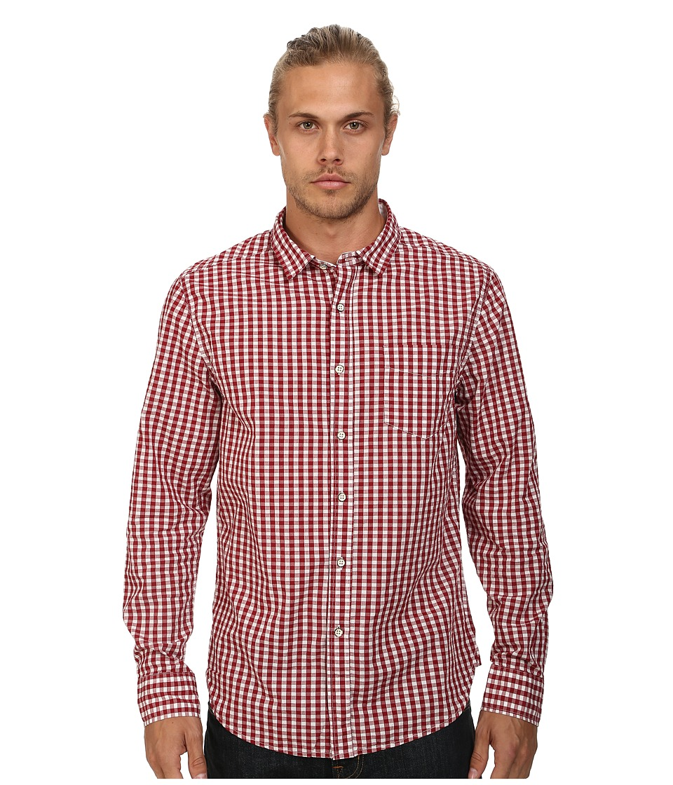 J.A.C.H.S. - Classic Fit Gingham Shirt (Red) Men's Clothing