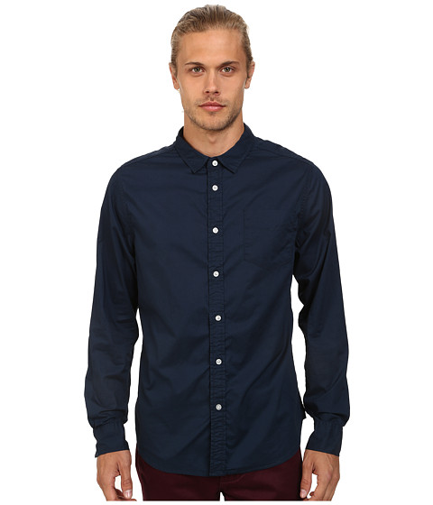 J.A.C.H.S. - Garment Dye Poplin Shirt (Dress Blue) Men