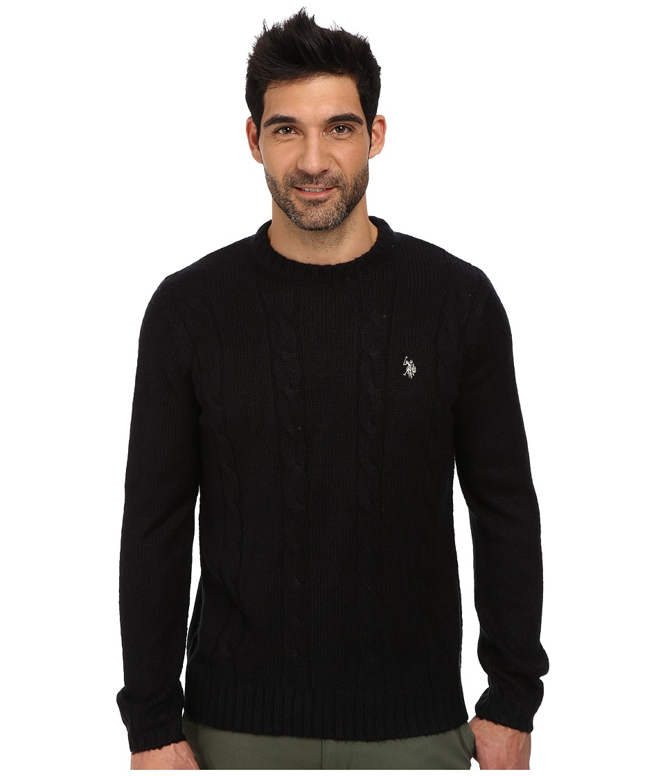 U.S. POLO ASSN. - L/S Mohair Cable Fro (Navy) Men