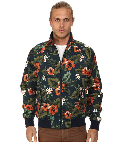 J.A.C.H.S. - Printed Harrington Jacket (Navy) Men's Coat