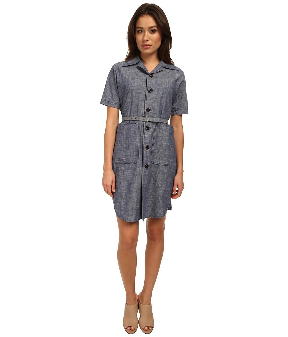 DSQUARED2 - Short Sleeve Madeleine Shirtdress (Light Blue) Women's Dress