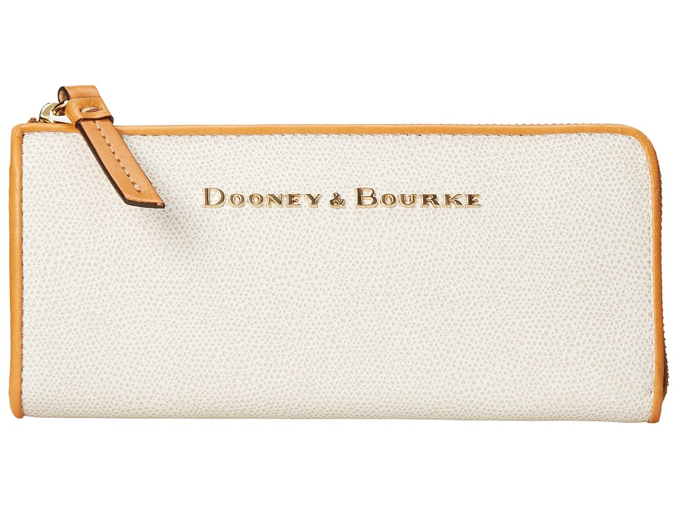 Dooney & Bourke - Claremont Zip Clutch (Bone w/ Butterscotch Trim) Clutch Handbags