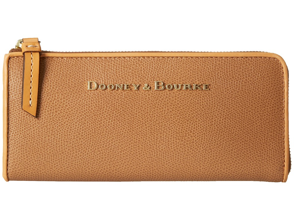 Dooney & Bourke - Claremont Zip Clutch (Tan w/ Butterscotch Trim) Clutch Handbags