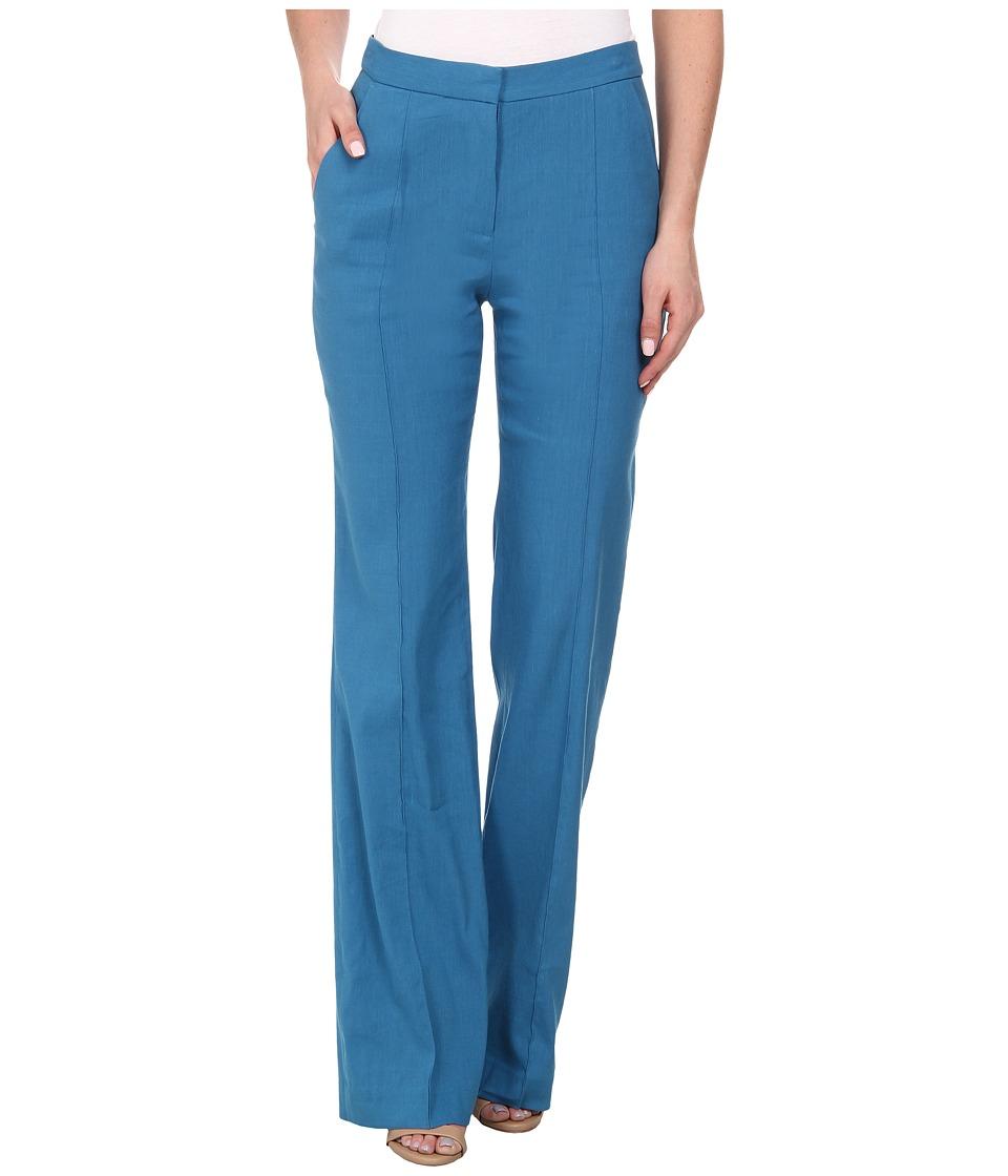 Rebecca Taylor - Stretch Linen High Waist Pant (Mariner) Women's Casual Pants