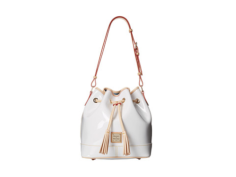 Dooney & Bourke - Patent Drawstring (Pure White w/ Natural Trim) Drawstring Handbags