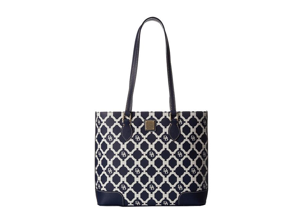 Dooney & Bourke - Sanibel Canvas Richmond Shopper (Marine w/ Marine Trim) Tote Handbags