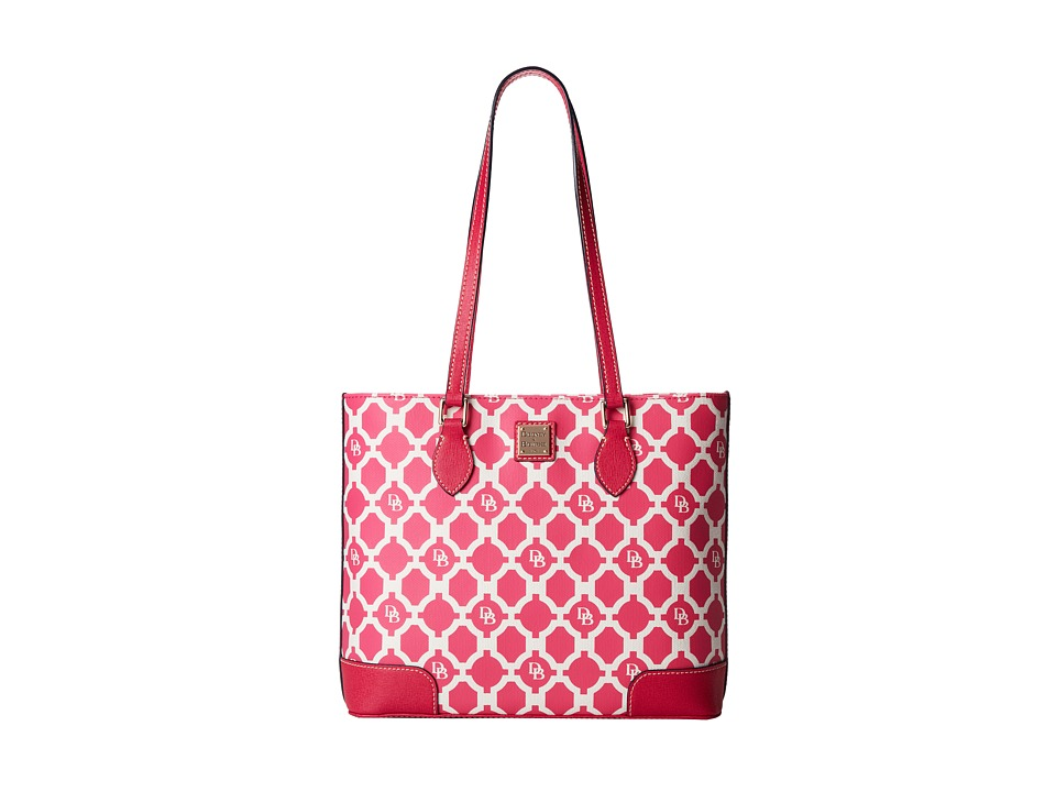 Dooney & Bourke - Sanibel Canvas Richmond Shopper (Hot Pink w/ Hot Pink Trim) Tote Handbags