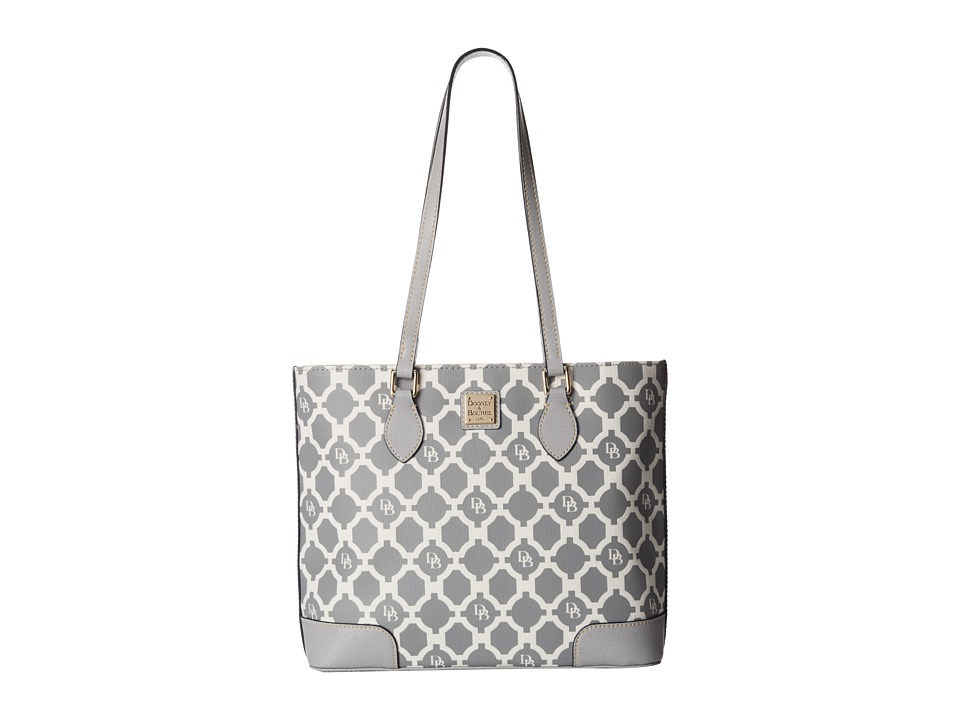 Dooney & Bourke - Sanibel Canvas Richmond Shopper (Grey w/ Grey Trim) Tote Handbags