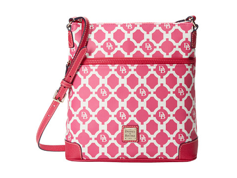 Dooney & Bourke - Sanibel Canvas Crossbody (Hot Pink w/ Hot Pink Trim) Cross Body Handbags