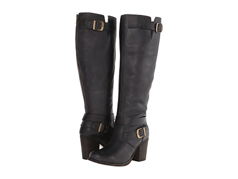 Type Z - Tyra Wide Calf (Black Leather) Women's Zip Boots