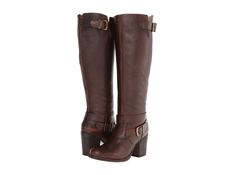 Type Z - Tyra Wide Calf (Dark Brown Leather) Women