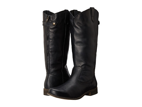 Type Z - Bonnie Wide Calf (Black Leather) Women's Pull-on Boots