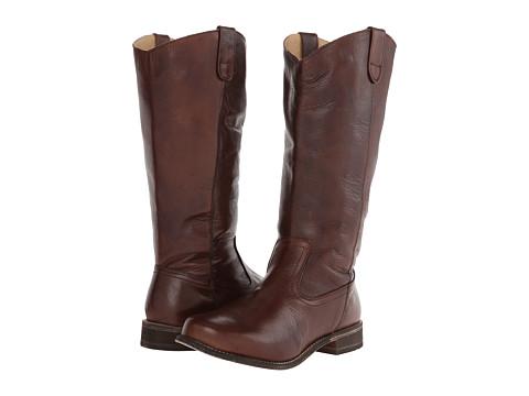 Type Z - Azalea Wide Calf (Dark Brown Leather) Women's Pull-on Boots