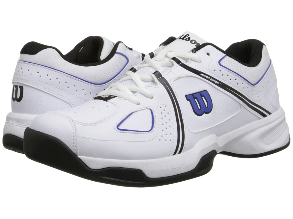 Wilson - Nvision Envy (White/Black/Blue) Men's Tennis Shoes