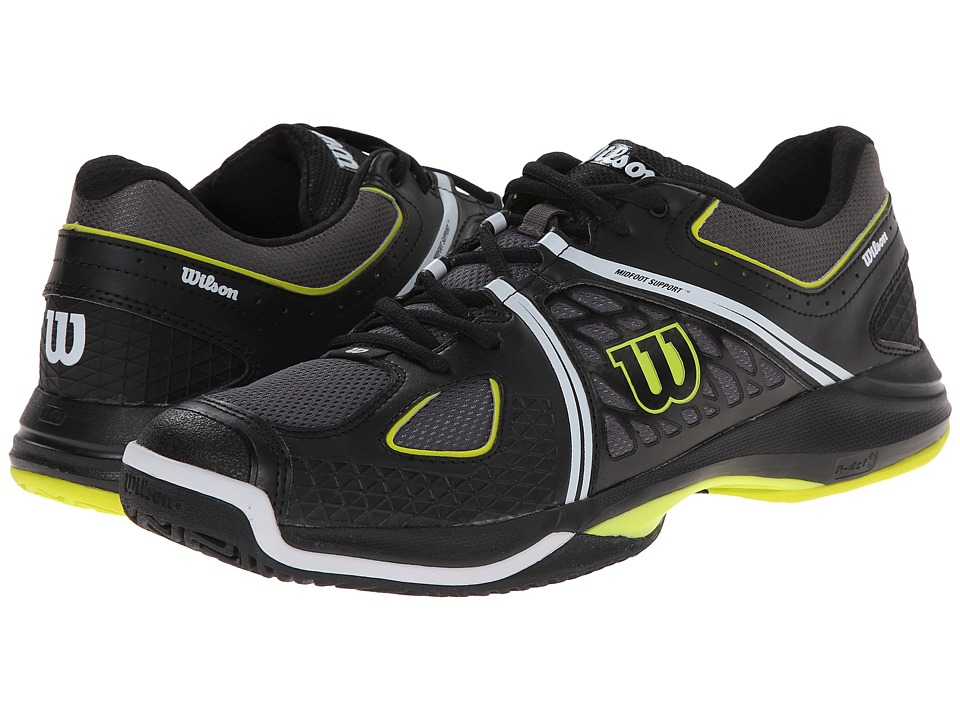 Wilson - Nvision (Black/Solar Lime) Men's Tennis Shoes