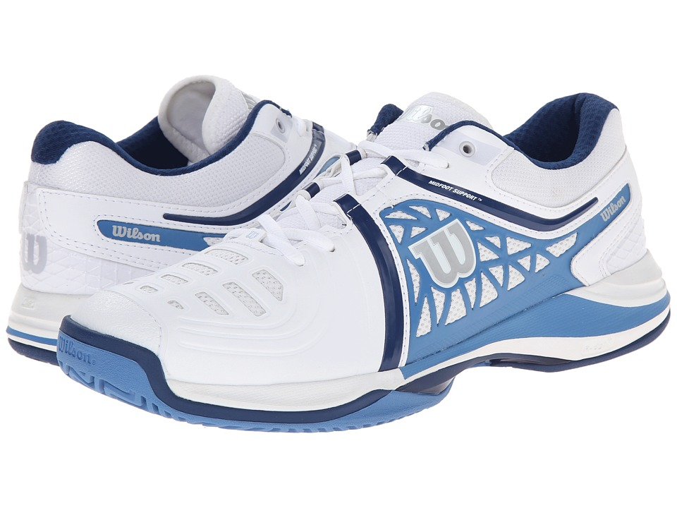 Wilson - Nvision Elite (White/Denim/Navy) Men's Tennis Shoes