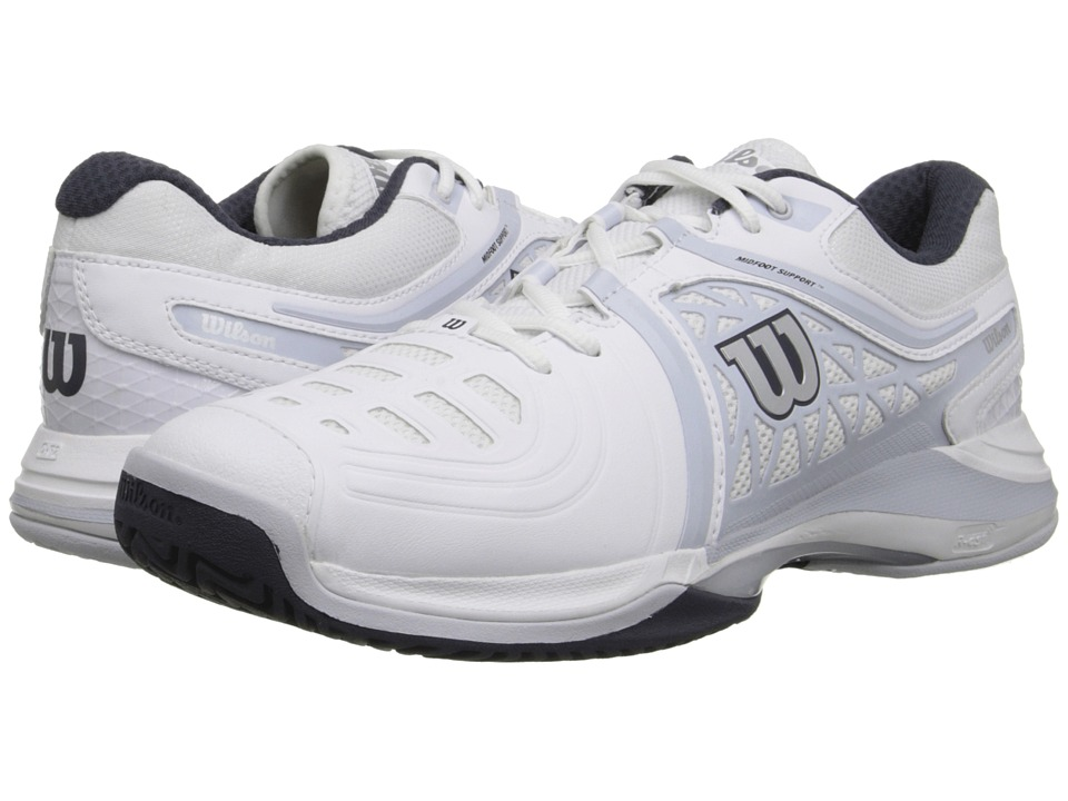Wilson - Nvision Elite (White/Gray/Coal) Men's Tennis Shoes