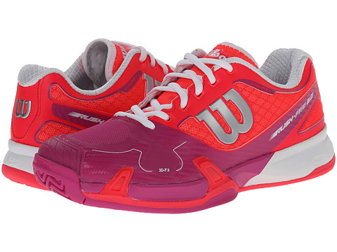 Wilson - Rush Pro 2.0 (Neon Red/Pink) Women's Tennis Shoes