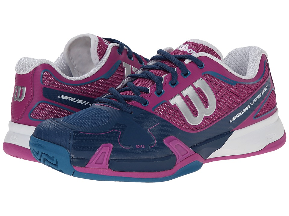 Wilson - Rush Pro 2.0 (Peony/Teal) Women's Tennis Shoes
