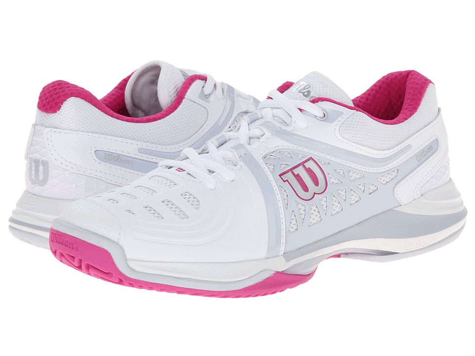 Wilson - Nvision Elite (White/Pearl Gray) Women's Tennis Shoes