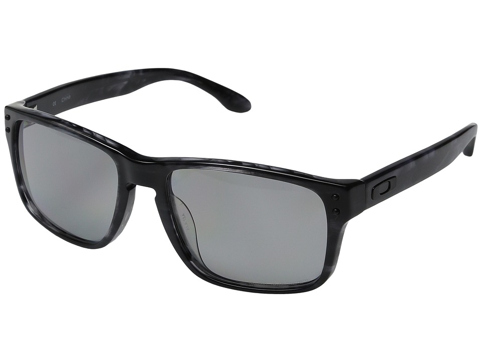 Oakley - Holbrook LX Asian Fit (Dark Grey Tortoise w/ Light Grey Polarized) Sport Sunglasses