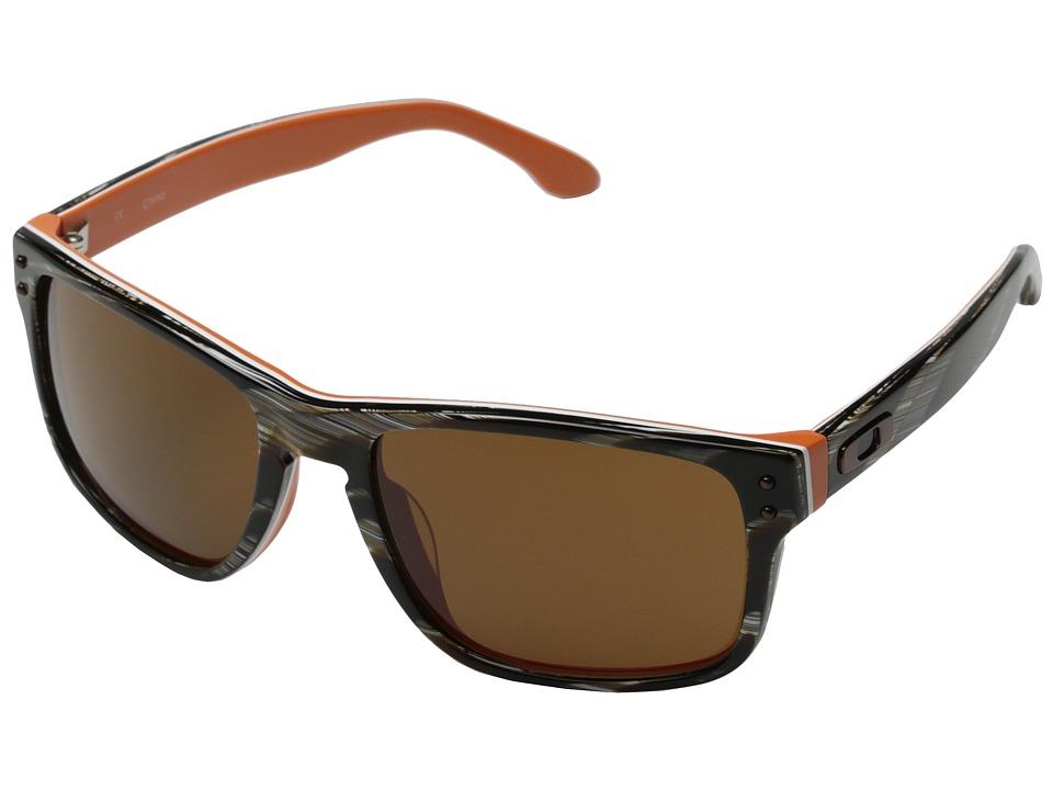 Oakley - Holbrook LX Asian Fit (Brown Stripe w/ Dark Bronze) Sport Sunglasses