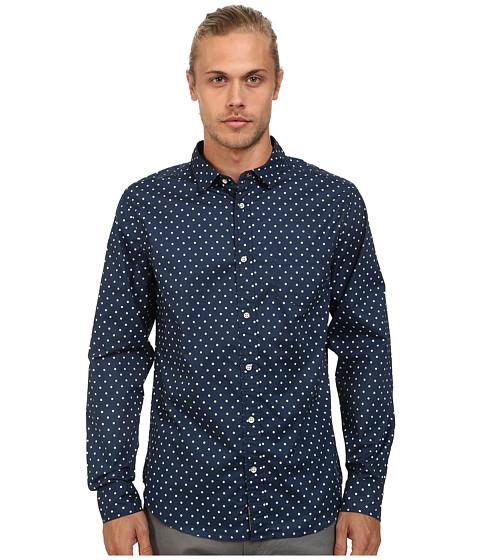 J.A.C.H.S. - Printed Poplin Shirt (Indigo) Men's Clothing