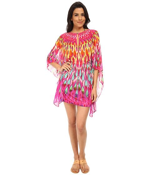 Luli Fama - Bajo Un Mismo Sol Button Front Short Caftan Cover-Up (Mulitcolor) Women