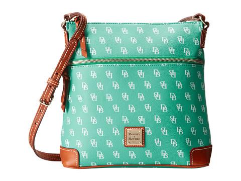 Dooney & Bourke - Gretta Crossbody (Seafoam/White w/ Tan Trim) Cross Body Handbags