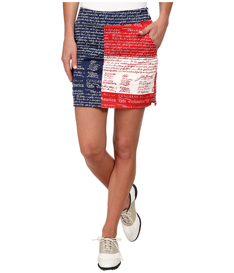 Loudmouth Golf - Declaration Of Indepants Skort (Navy) Women