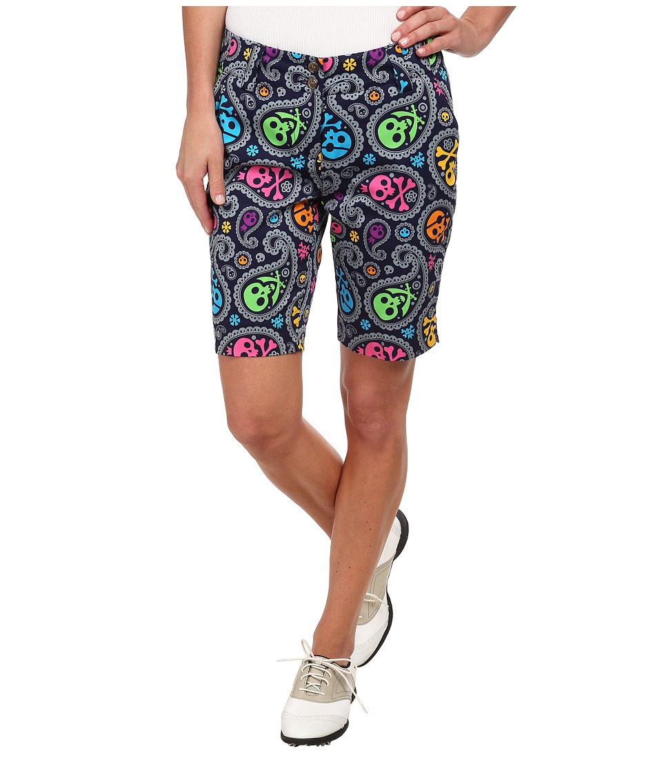 Loudmouth Golf - Jolly Roger Shorts (Navy) Women's Shorts