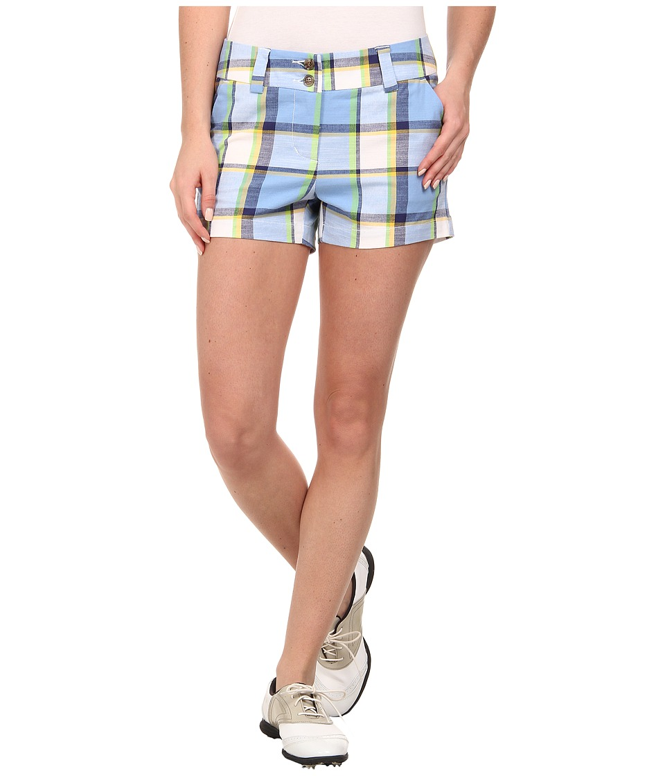 Loudmouth Golf - Blueberry Pie Mini Shorts (Cerulean) Women's Shorts