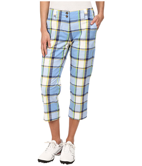 Loudmouth Golf - Blueberry Pie Golf Capri (Cerulean) Women's Capri