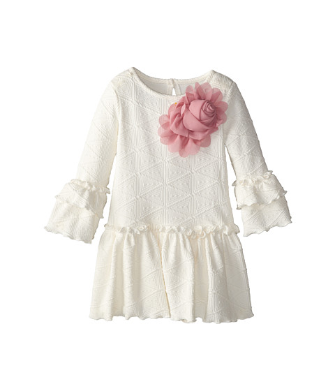 Pippa & Julie - Ivory Knit Dress (Toddler) (White) Girl's Dress