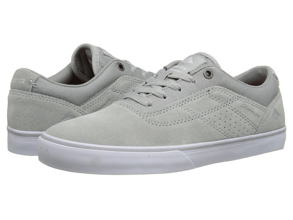 Emerica - The Herman G6 Vulc (Grey/White) Men's Skate Shoes