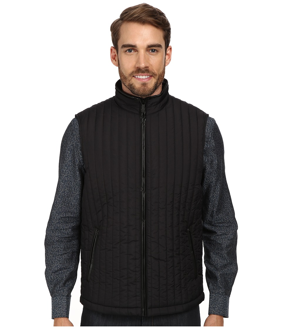 Perry Ellis - Quilted Nylon Vest (Black) Men
