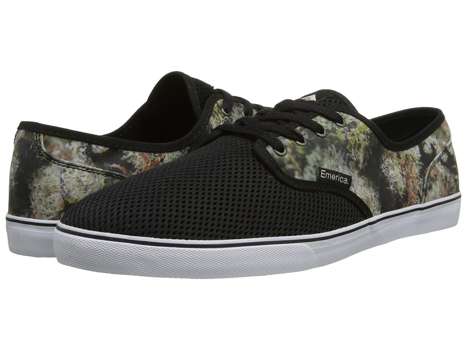 Emerica - Wino Cruiser (Black/Green/White) Men's Skate Shoes