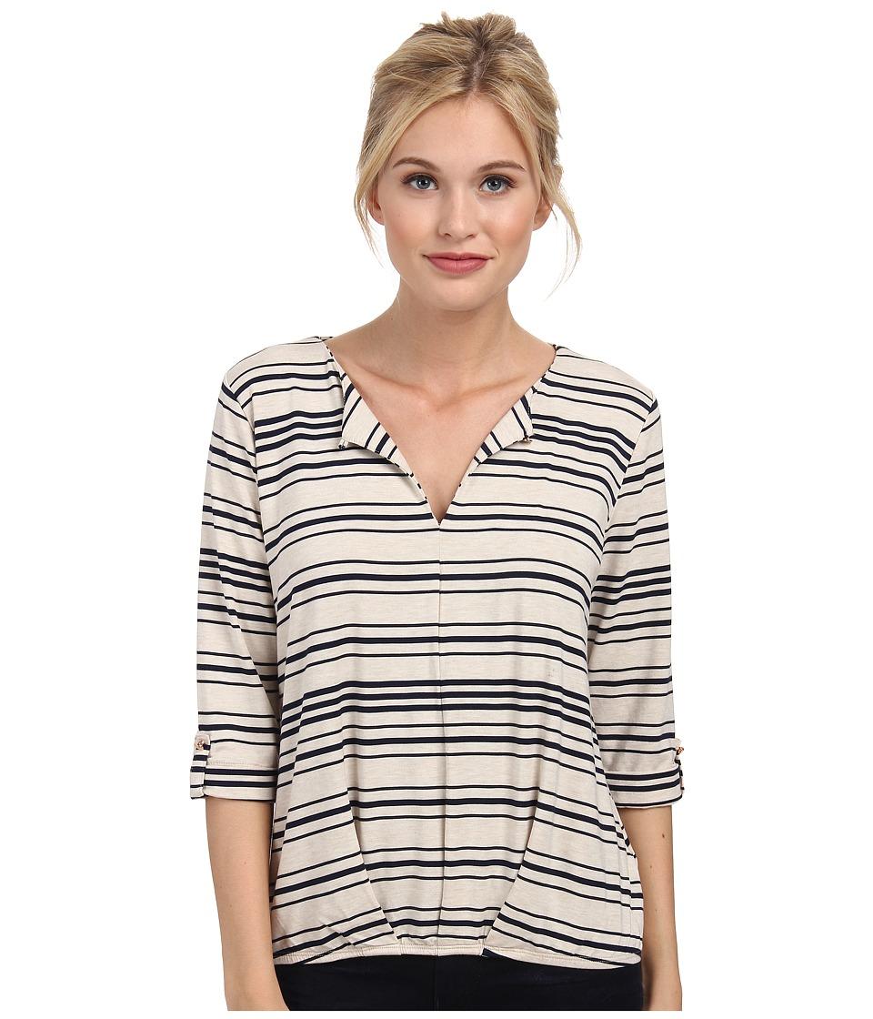 Tart - Moxie Top (Oatmeal/Peacoat Stripe) Women's Clothing