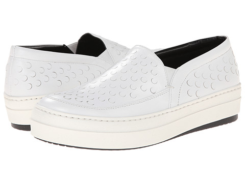 McQ - Daze Studded Slip On (White) Women's Slip on Shoes