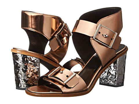 McQ - Crush Heel 2 Strap (Rose Gold) High Heels