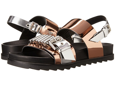 McQ - Rita Metal Bar (Pink/Pewter) Women's Sandals