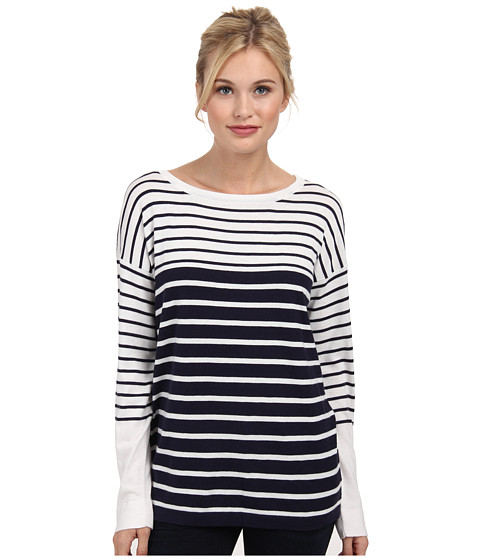 Tart - Olivia Sweater (Navy w/ Oatmeal Stripe) Women's Sweater
