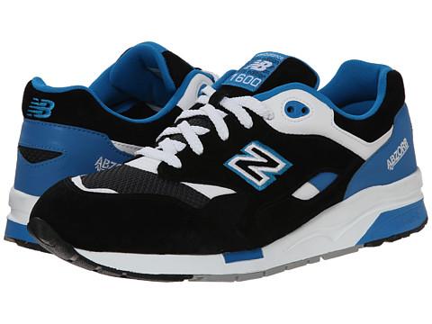 New Balance Classics - CM1600 (Black/Blue/Suede Mesh) Men's Classic Shoes