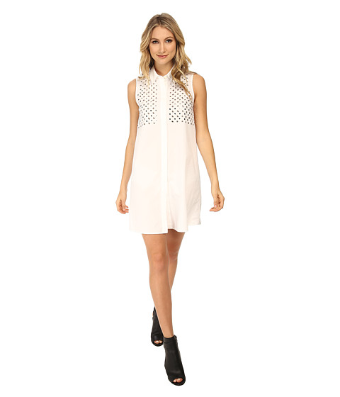 McQ - Stud Dress (Optic White) Women's Dress