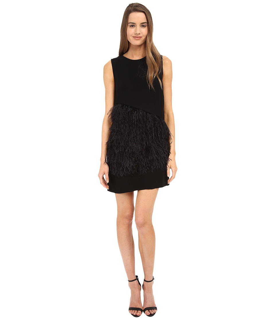 McQ - Feather Short Dress (Darkest Black) Women's Dress