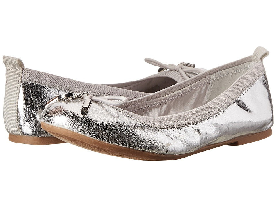 Sam Edelman Kids - Farren (Toddler/Little Kid/Big Kid) (Silver Metallic Crackle) Girl