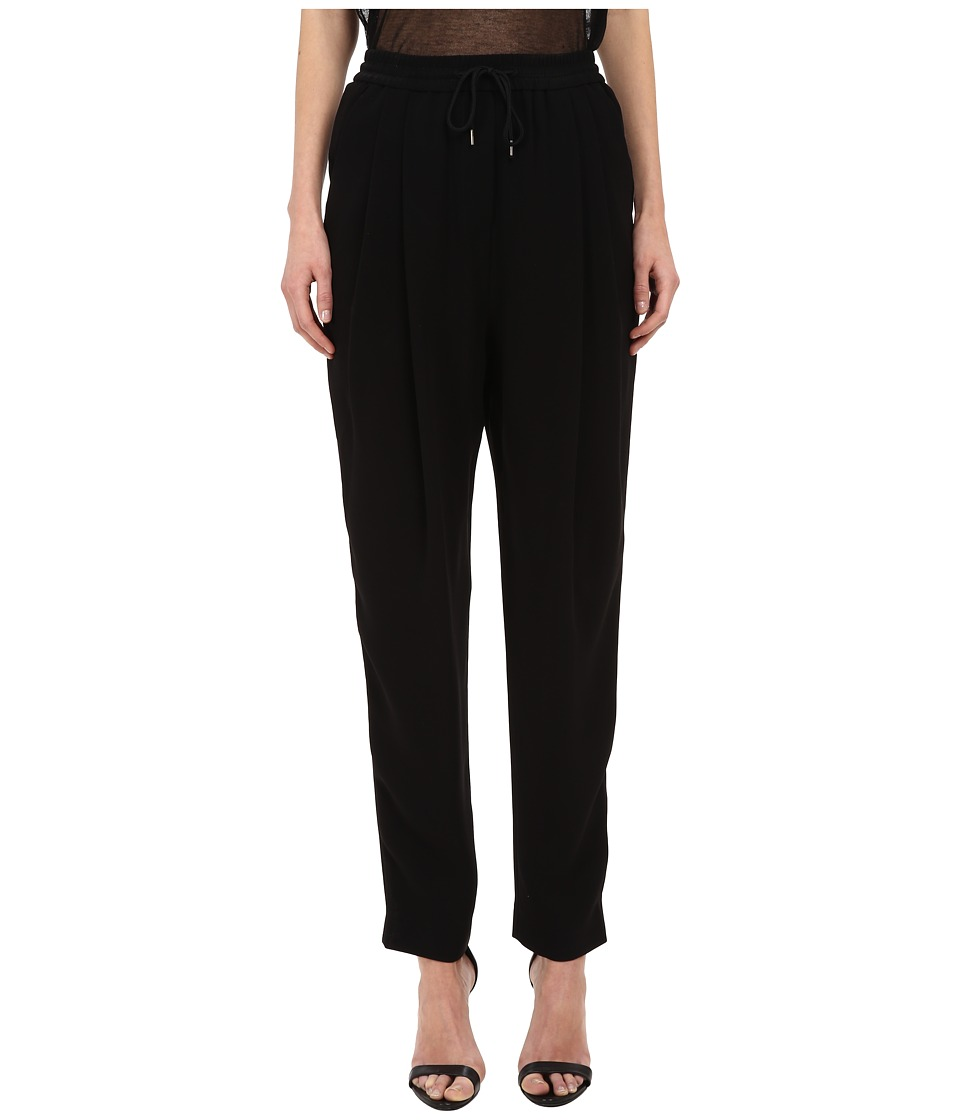 McQ - Pleat Front Loose Trouser (Darkest Black) Women's Clothing