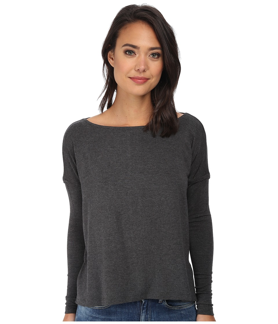 Tart - Caelen Top (Charcoal) Women's Long Sleeve Pullover