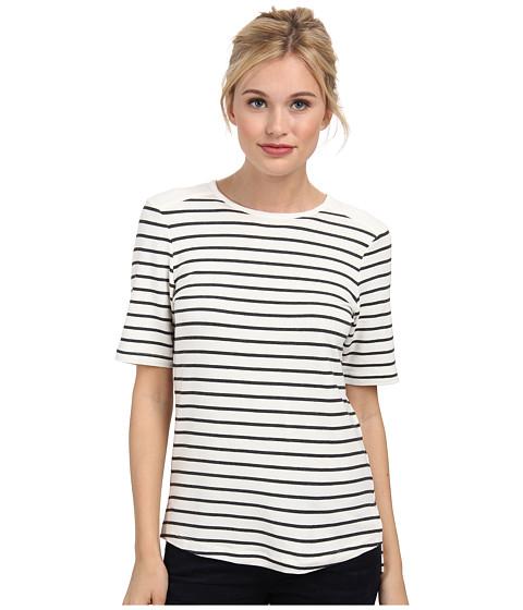 Tart - Randi Top (Charcoal Stripe) Women's Short Sleeve Pullover